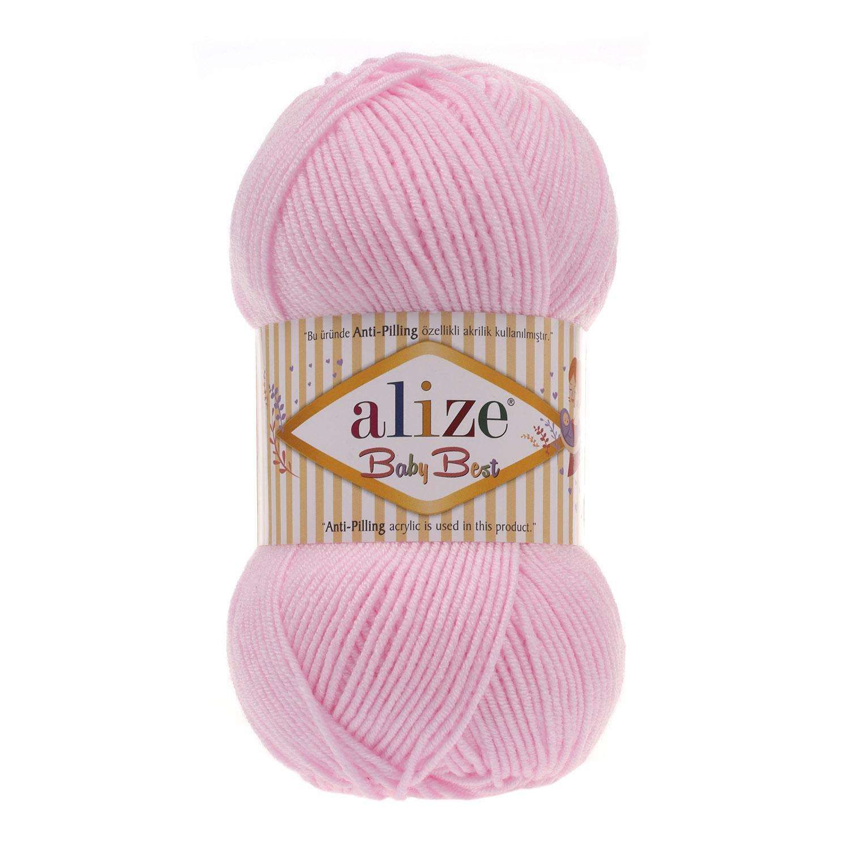 ac0c14095 Cukrík ružová akryl detská vlna s antipilling úpravou a bambusom Baby Best  185