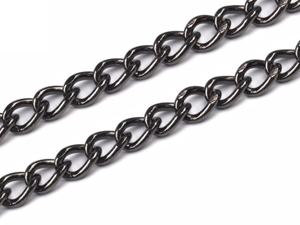 7bd5c31cd Čierno strieborná kovová retiazka na kabelky dĺžka 120 cm | Online ...