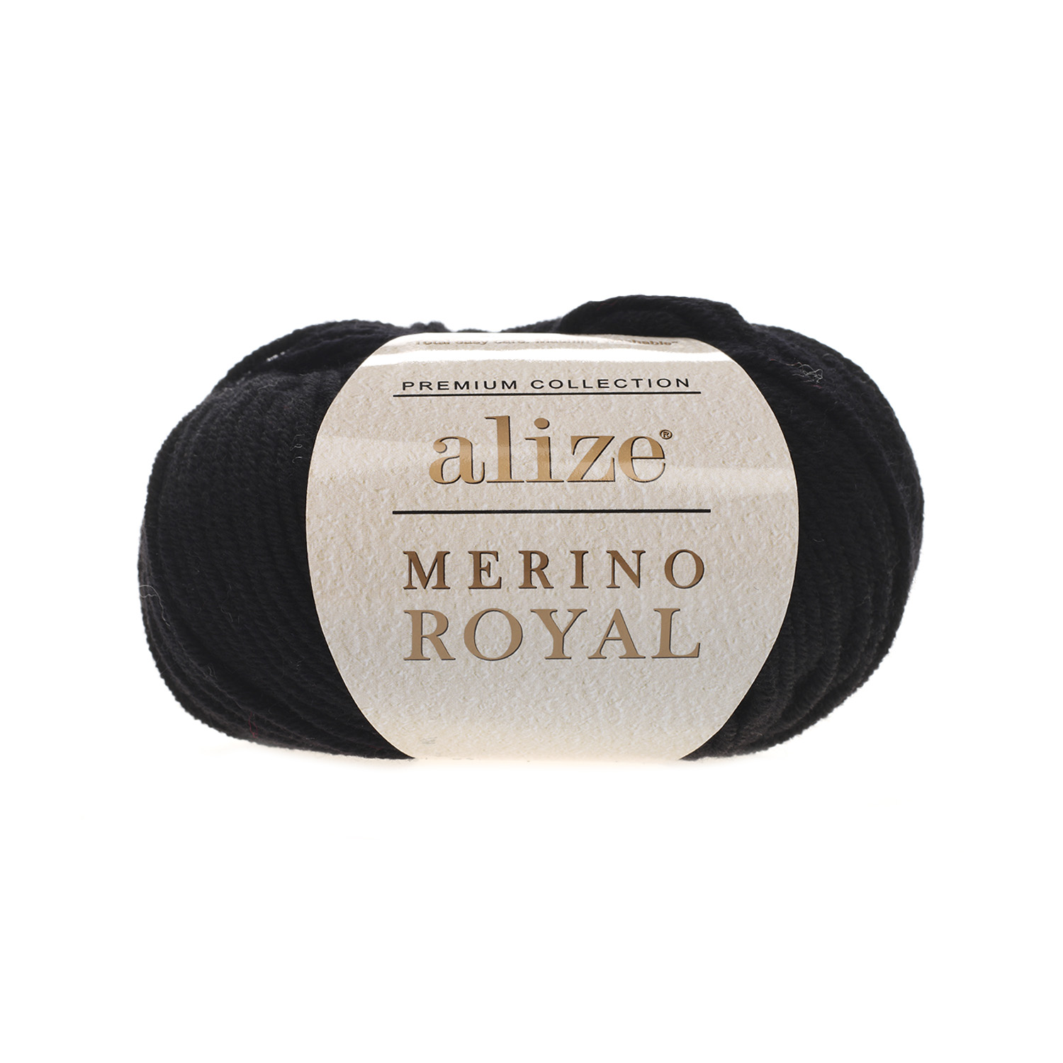 Čierna 100% merino vlna Merino Royal 60 (Superwash)
