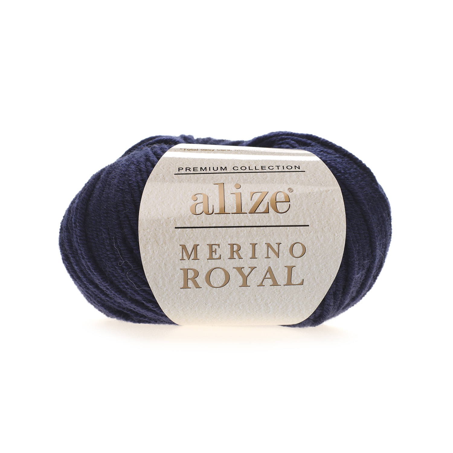 Tmavo modrá 100% merino vlna Merino Royal 58 (Superwash)