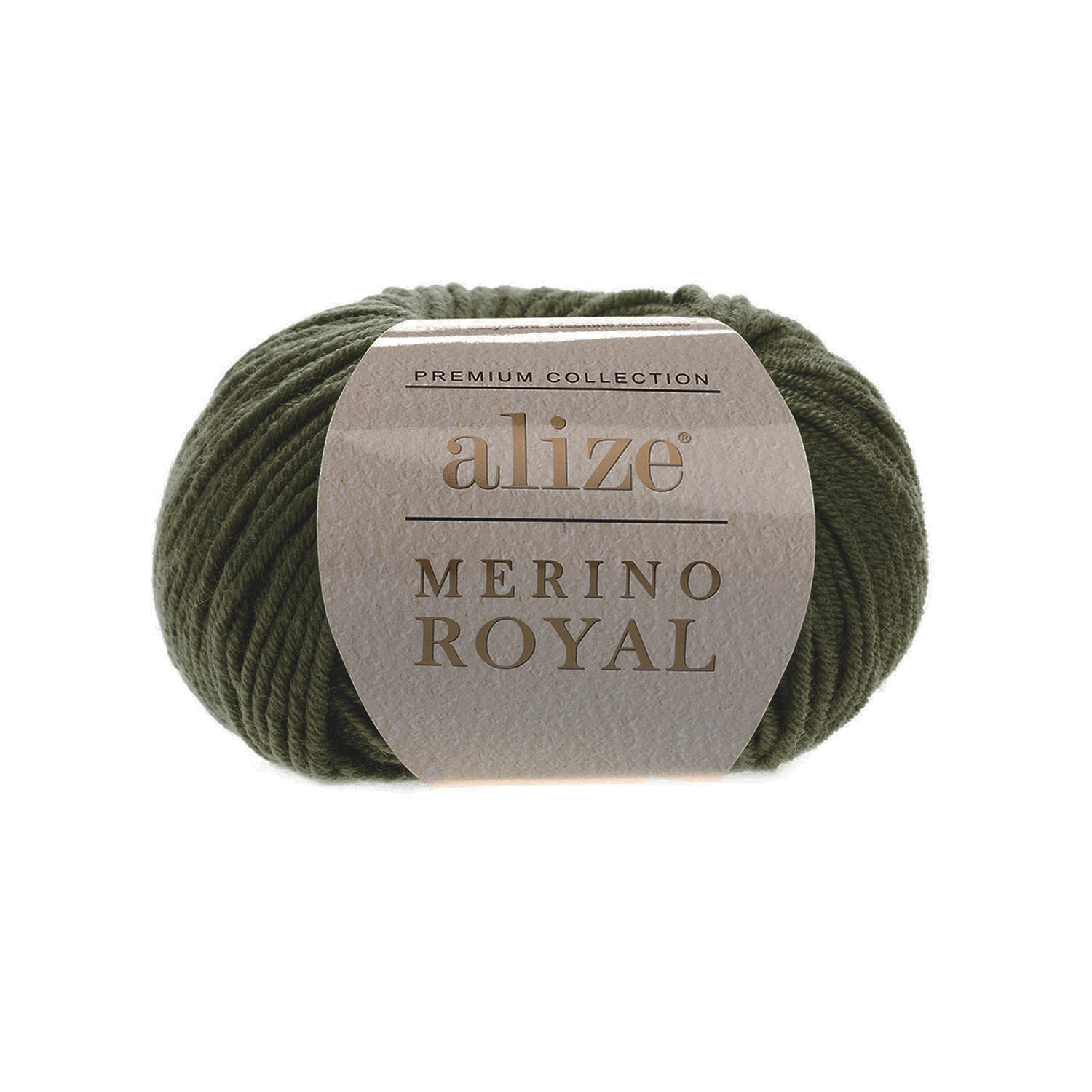 Olivovo zelená 100% merino vlna Merino Royal 284 (Superwash)