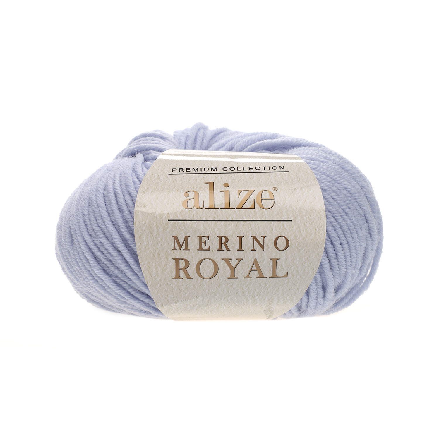 Svetlo modrá 100% merino vlna Merino Royal 480 (Superwash)