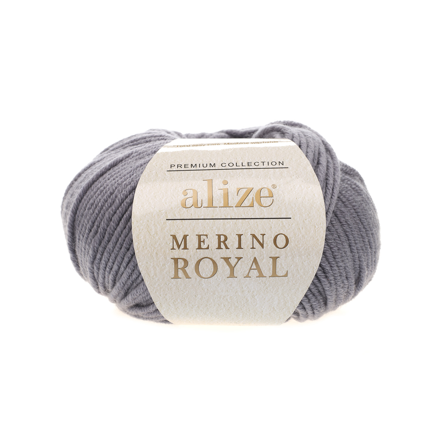 Tmavo sivá 100% merino vlna Merino Royal 87 (Superwash)