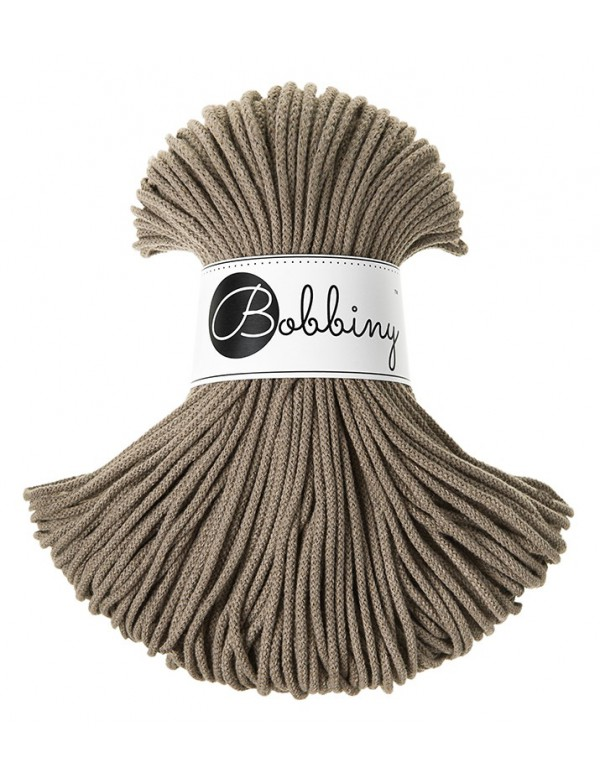 "Bežovo kávový špagát ""coffee"" Bobbiny 3mm Junior Cord 100m"