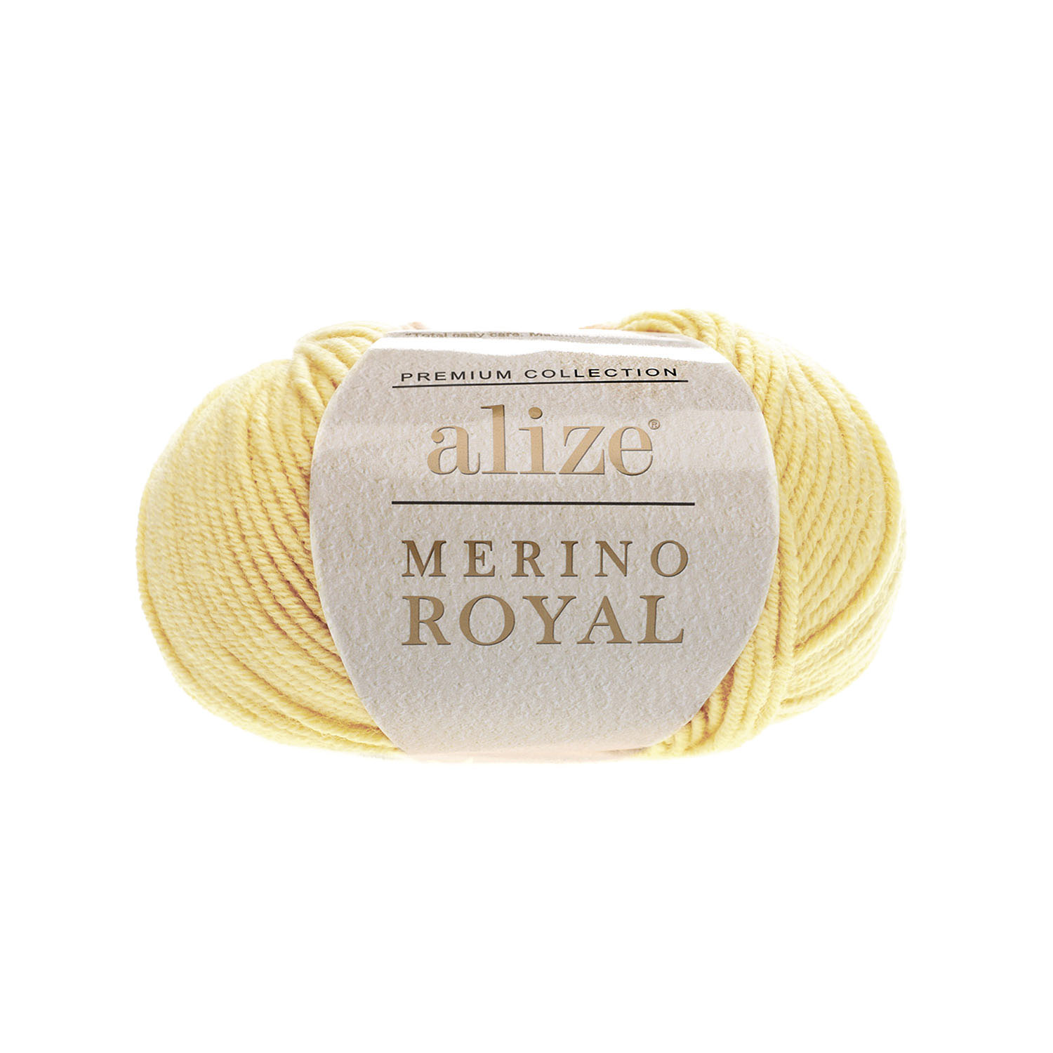 Svetlo žltá 100% merino vlna Merino Royal 187 (Superwash)